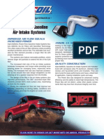 INJEN AMSOIL Gasoline Intake Systems Data Bulletins