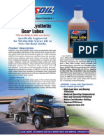 Long Life Synthetic Gear Lubes Data Bulletin