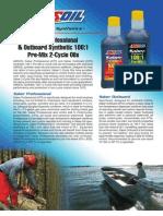 Saber 2-Cycle Oil Data Bulletin