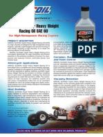 SAE60 Racing Oil Data Bulletin