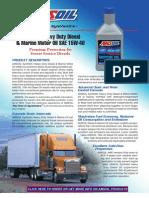 Synthetic Heavy Duty Diesel & Marine Motor Oil (AME)