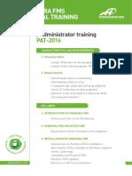 Pandora - Programacion PAT en 2016