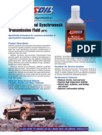 Synthetic Synch Rome Sh Transmission Fluid Data Bulletin