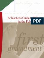 A Teachers Guide to Religion in Public Schools
