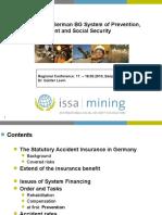 Gunter Levin the Integrated German BG System of Prevention,