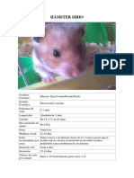 Ficha Hamster Sirios