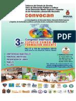 Convocatoria 3er Congreso Internacional 2016