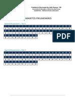 Pebjp Gabarito Preliminar Todos