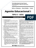 Peb-jp 2013 Peb II - Agente Educacional i Prova Tipo 04