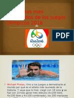 Los Atletas Mas Destacados de Los Juegos Olímpicos Daniel 5to A