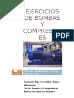 Ejercicios de Bombas y Compresores