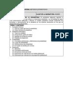 Métodos Programa de Estadísticos I