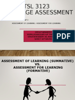 Assessment of learning and assessment for learning.ppt