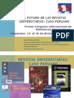 El Futuro de Las Revistas Universitarias Caso Peruano