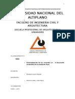 desarrollo de la vivienda en Puno - Peru