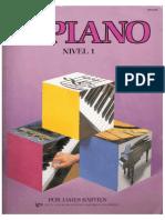 BASTIEN  - METODO PARA PIANO - NIVEL 1