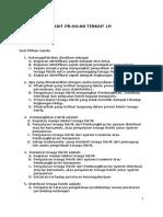 Post Test Peraturan Per-UU-An Terkait LH (Peserta)