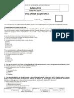 Evaluacion Diagnóstica III (Mini Ensayo Segundo Medio)