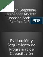 Evaluación y Seguimiento de Programas de Capacitación Psic. Organizacional