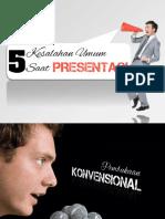 5 Kesalahan Umum Saat Presentasi