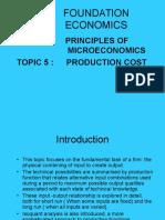 Foundation Economics Lecture 5