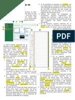 El Entorno de Trabajo de Excel 2013