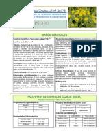 Hinojo Rosa Elena Dueñas S.a. Laboratorio de Remedios Herbolarios Ficha Tecnica