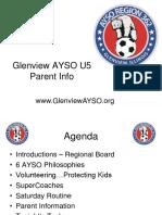 Glenview AYSO Parent Meeting-U5 Fall 2016