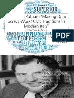 Robert Putman Hacer que la democracia funcione