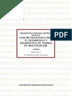 Guia Metodologica Para El Desarrollo y Evaluacion de La Tesinas de Prot15.01.10]