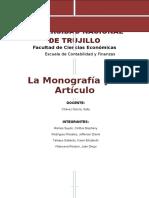 La Monografia y El Articulo