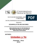 Informe Proyecto Gestion de Procesos Hoteleros