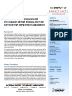 Experimental and Computational Investigation of High-Entropy Alloys for Elevated High-Temperature Applications