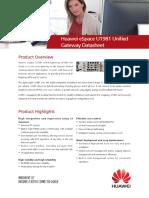 Huawei ESpace U1981 Unified Gateway Datasheet