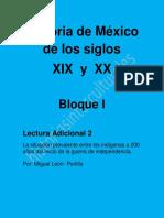 La Situación Prevalente Entre Los Indigenas a 200 Años. Miguel León Portilla