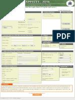 AP Pecet 2016 Model Application form