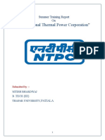 NTPC BARH SUMMER TRAINING REPORT (ELECTRICAL)