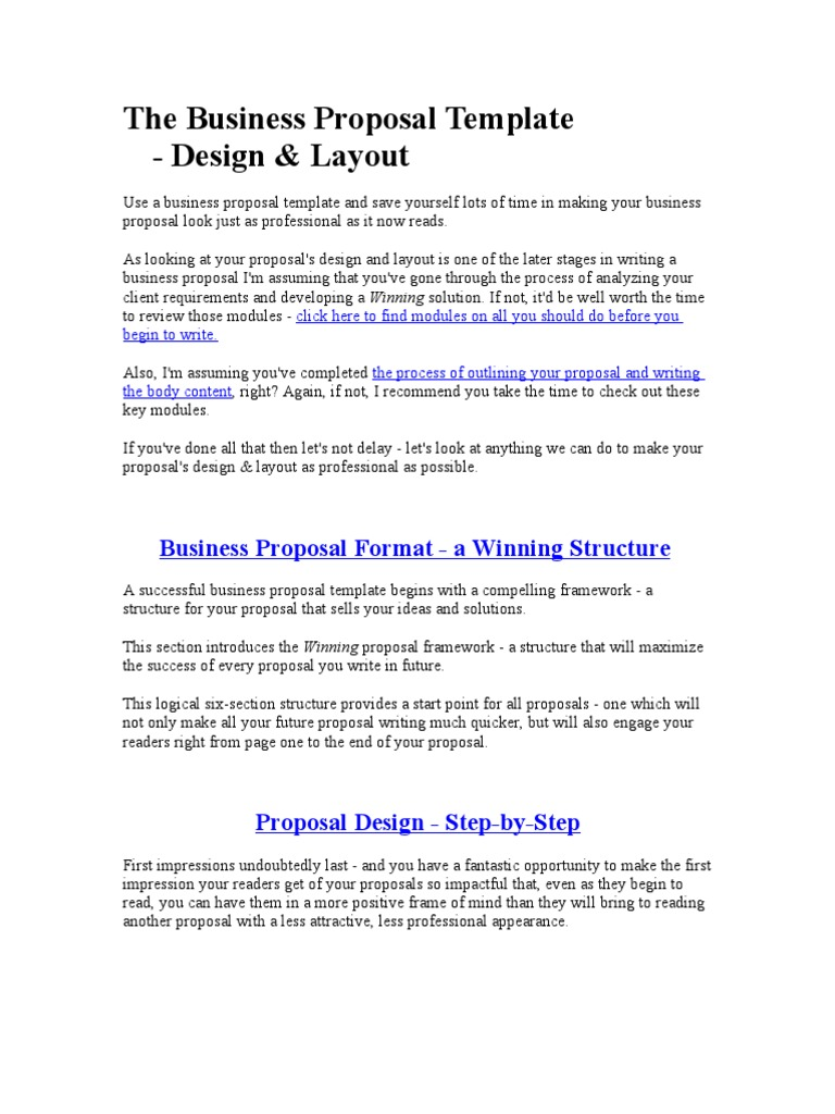 The Business Proposal Template | Typefaces | Serif