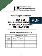 Perancangan akademik 20152016kk