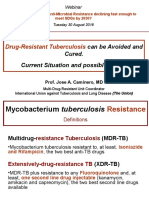 Dr José Caminero's presentation on ending anti-microbial resistance including MDR/XDR TB
