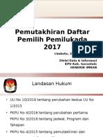 Materi Pemutakhiran Daftar Pemilih Pemilihan 2017 Bimtek