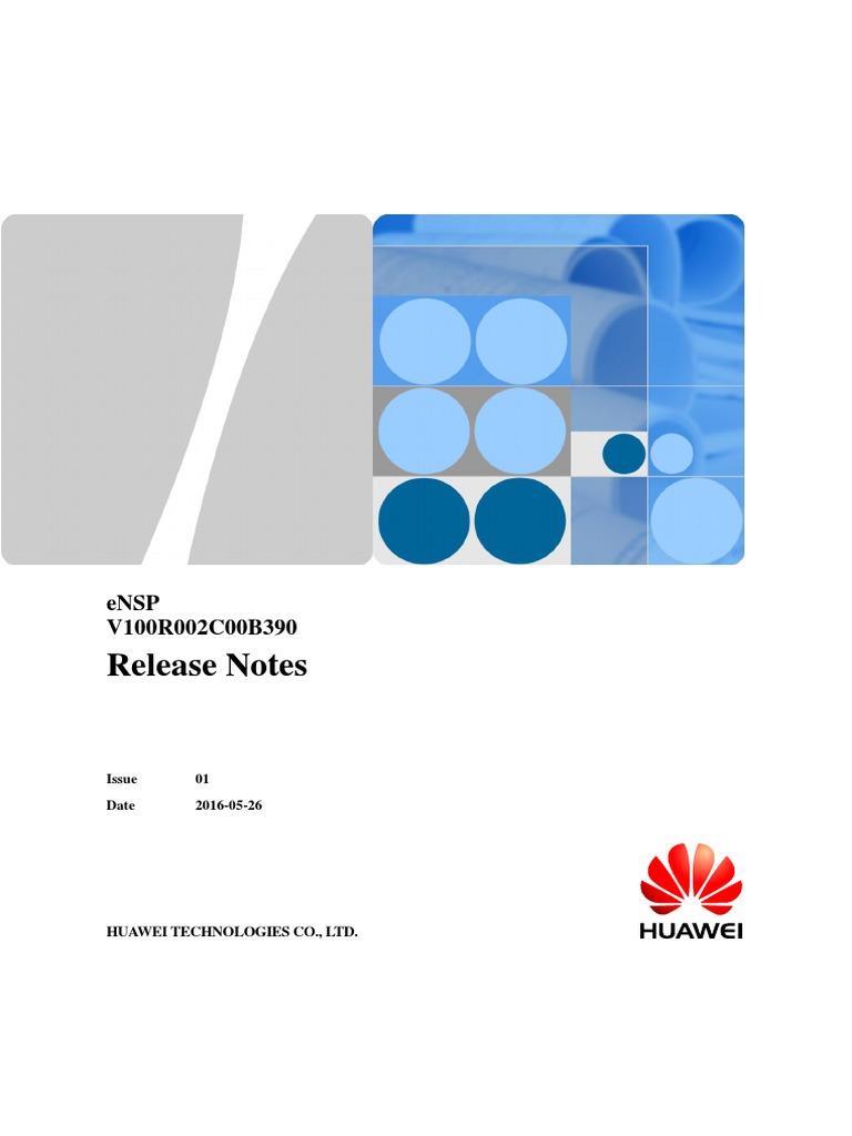 eNSP_V100R002C00B390_Release_Notes_ pdf   Virtualization