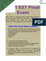 UOP E Tutors - COM 537 Final Exam Answers Free