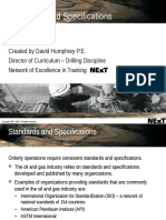 5.2 Standards and Specifications Introduction and Overview