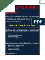 UOP E Tutors - ECO 372 Final Exam Answers Free
