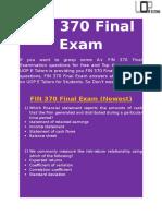 UOP E Tutors - FIN 370 Final Exam Answers Free