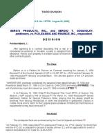 06 Serg's Products Inc vs PCI Leasing & Finance Inc _ 137705 _ August 22, 2000 _ J