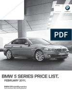 5 Series Sedan Prices February 2011
