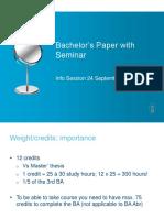 BA Paper Info Session 2015