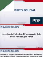 Direito Processual Penal - Aula 01 - Inquérito Policial